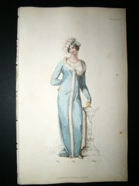 Ackermann 1812 Hand Col Regency Fashion Print. Persian Opera Dress 8-33